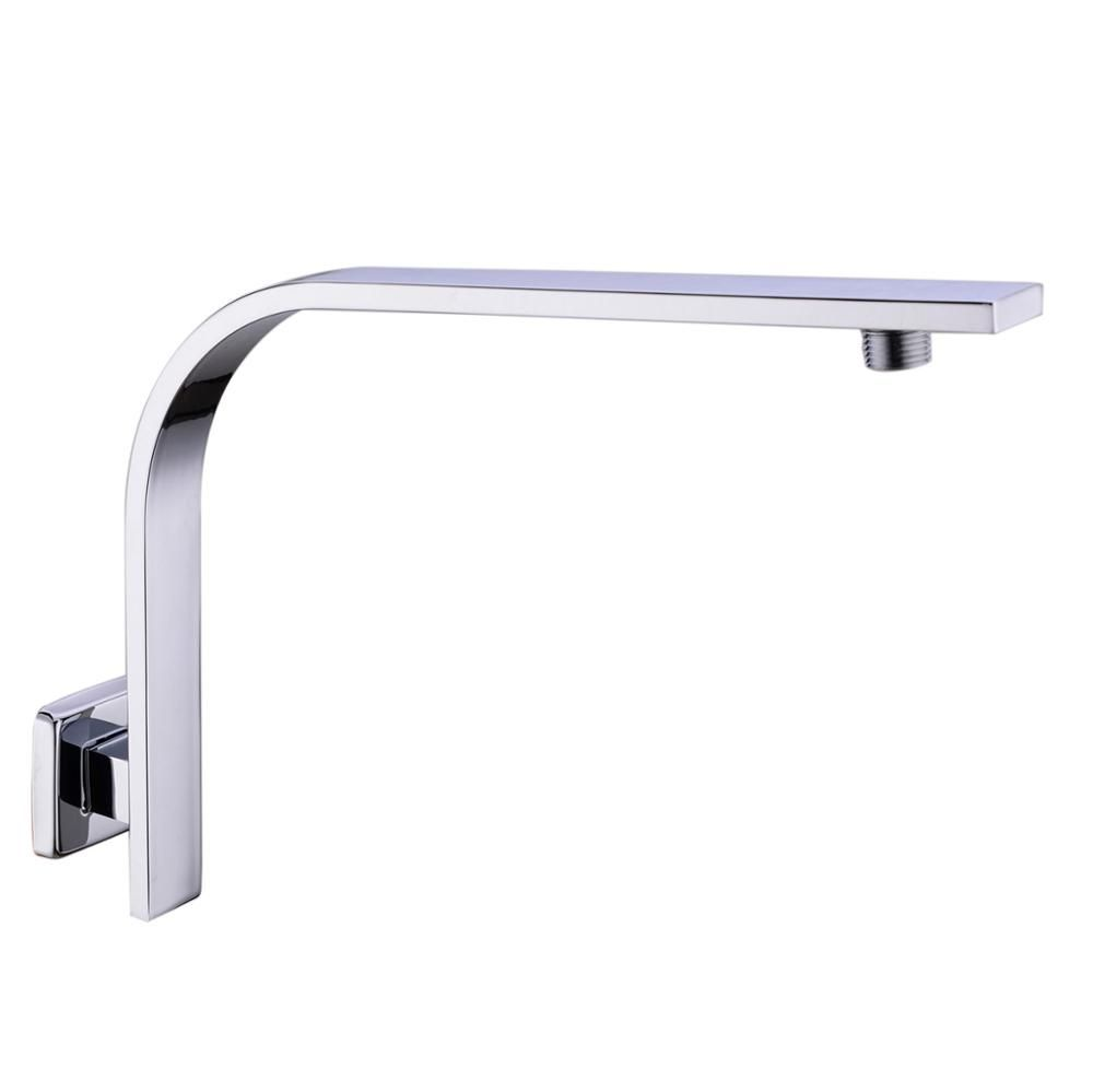 304 Stainless Steel GOOSENECK Square  Chrome Rain shower Wall Mounted Shower Arm for shower head