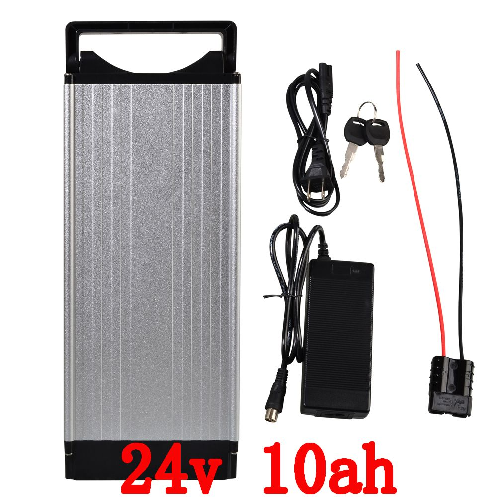 24V LiFePO4 battery pack 24v 10ah Lithium battery pack 24V 10AH electric bicycle battery with 15A BMS and 29.2V 2A charger
