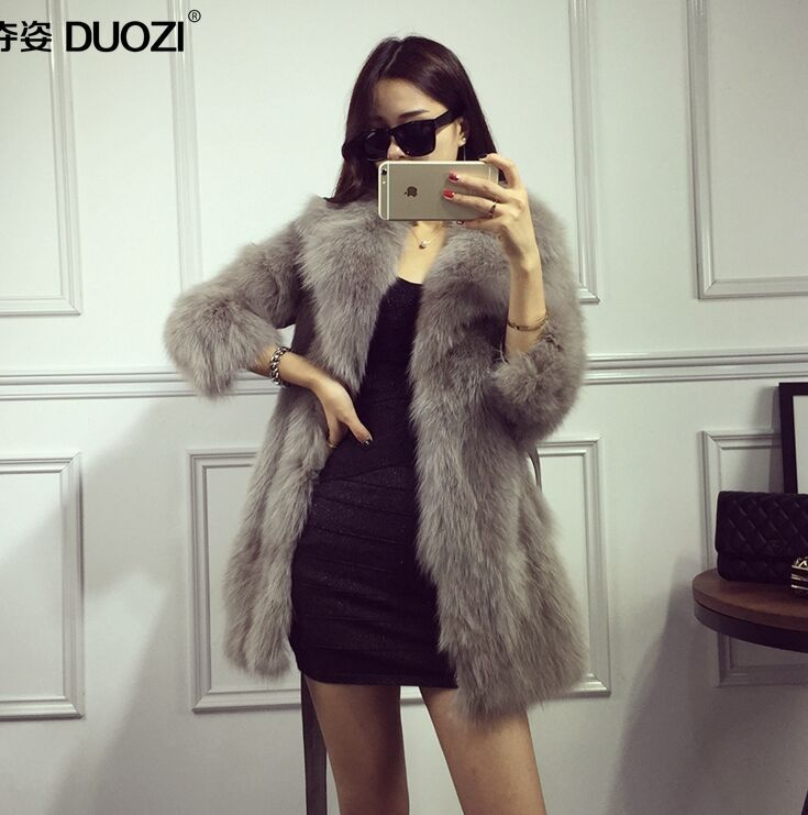 Women fake Fur Coat Jacket Winter Fur Coat Female Black Long Style Thick 2016 Autumn & Winter Wide-Waisted Long Sleeves Fur Coat