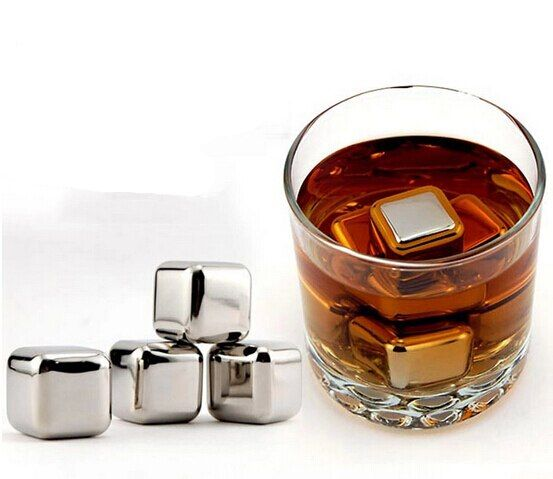SUS304 stainless steel whisky stones beer drink cooler ice cube rock / Big size gift bag/lot free shipping