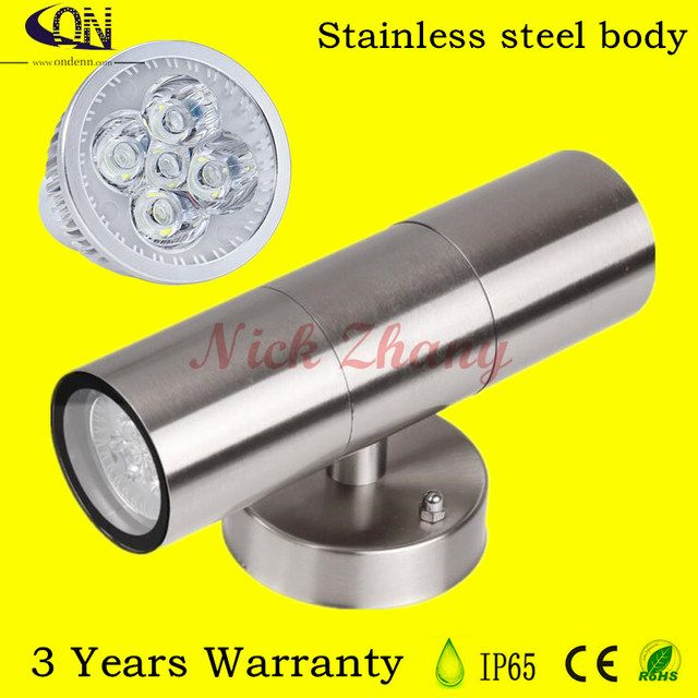 Super Bright IP65 Stainless Steel Double 2X5W 10w LED Outdoor Garden Up & Down Wall Light Lamp Yard Corridor Villas Parks Modern