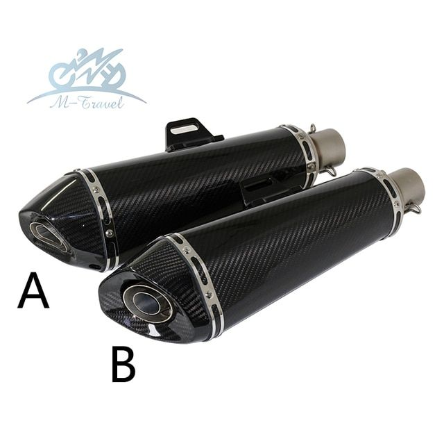 Universal 36-51mm Motorcycle exhaust Modified Scooter carbon fiber muffler Exhaust Muffle Fit for most motorcycle z1000 mt07 cbr