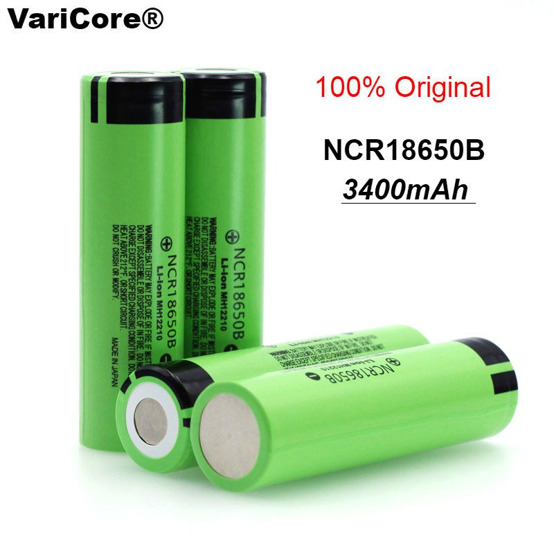 4 pcs/Lot VariCore 100% New Original NCR18650B 18650 li-ion Rechargeable battery 3400 mAh 3.7 V for Flashlight batteries