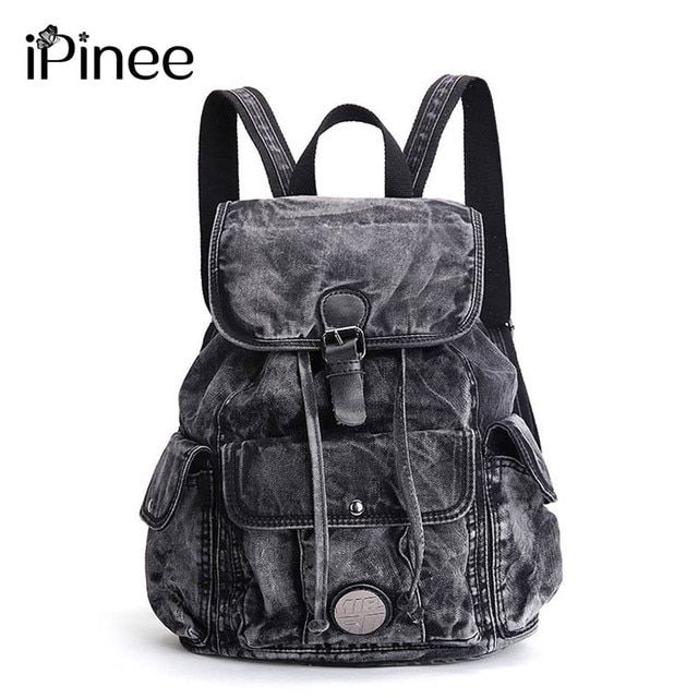 iPinee Women's Backpack Denim Daily Backpack Vintage Backpacks Travel Lay Bag 2018 Rucksack Bagpack