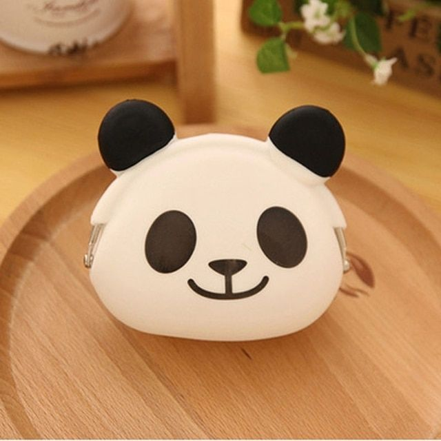 2018  New Cute Wallet Cartoon Candy Color Silicone Coin Purse Jelly Coin Purse Key Wallet Earphone Organizer Storage Box  pocket
