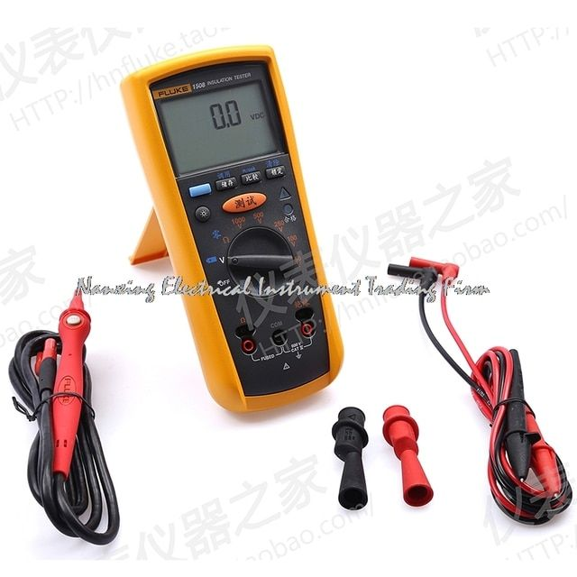 Fast arrival FLUKE 1508 digital insulation multimeter F1508 digital megohmmeter 1000 V 10 Gohm