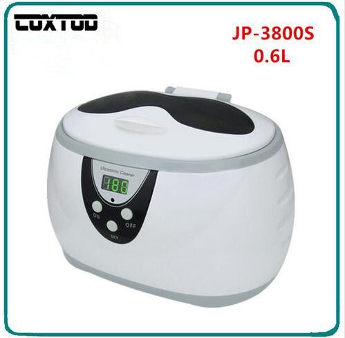 COXTOD JP-3800S Digital Ultrasonic Cleaner Wash Bath Baskets Jewelry Watches Dental 0.6L Ultrasound Mini UltraSonic Cleaner Bath