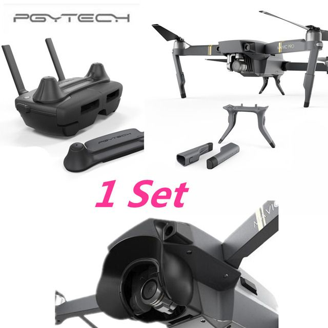 PGYTECH 1 Set Thumb Stick Guard Rocker Protector Holder Extended Landing Gear Leg amera Protector Sun Shade for DJI MAVIC PRO