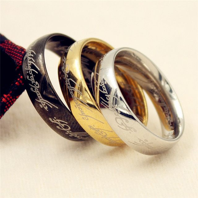 2019 Midi Stainless Steel Hobbit One Ring of Power Gold the Lord of the Rings Lovers Women Men Fashion Jewelry