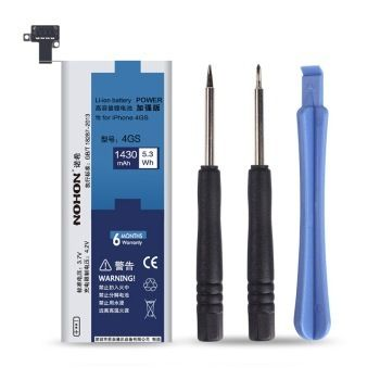 100% Original NOHON New Batteries For Apple Iphone 4S Battery Real Capacity 1430mAh With a Screwdriver Set