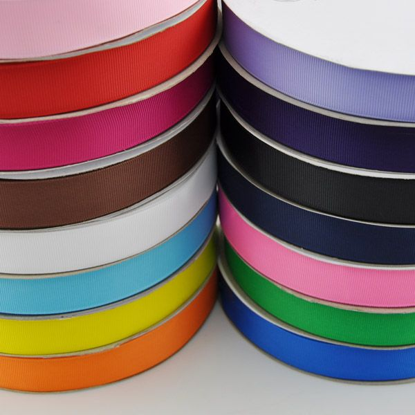 Free shipping High Quality 1'' (25mm) Mix color solid Polyester Grosgrain Ribbon DIY hairbows accessory gift package