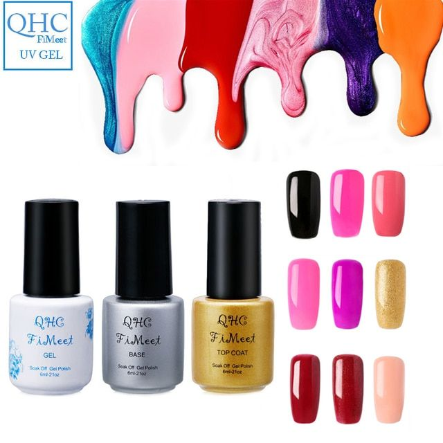 QHC FiMeet UV Nail Gel Polish Long Lasting UV LED Nail Polish Lacquer Need UV Gel Base And Top Coat