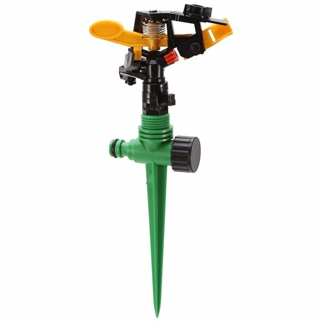 W Garden Lawn Sprinkler Grass 360 Degree Garden Adjustable Rocker Nozzle Plastic Double Water Inlet For Irrigation System