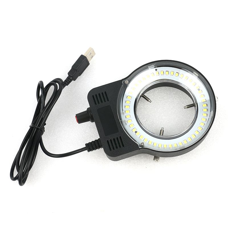 48 LED SMD USB Adjustable Ring Light illuminator Lamp For Industry Microscope Industrial Camera Magnifier 110V-220V