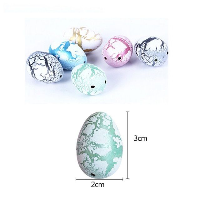 20pcs/lot White Magic Water Hatching Inflation Growing Dino Eggs Toy For Kids Gift Child Novelty Gag Dinosaur Toys