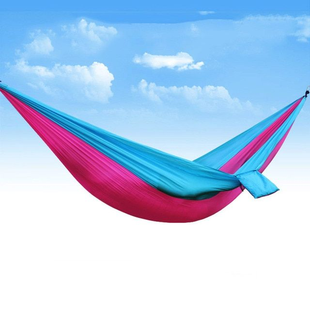 "2016 High Quanlity Portable Travel Hammock 102*55"" Large Lightweight Parachute Nylon Comfortable for Outdoor Hiking Camping"