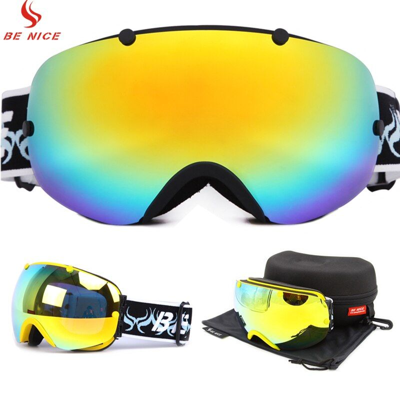 Professional Snow Ski Snowboard Goggles UV Protection Anti Fog Snowmobile Motorcycle Winter Ski Eyewear