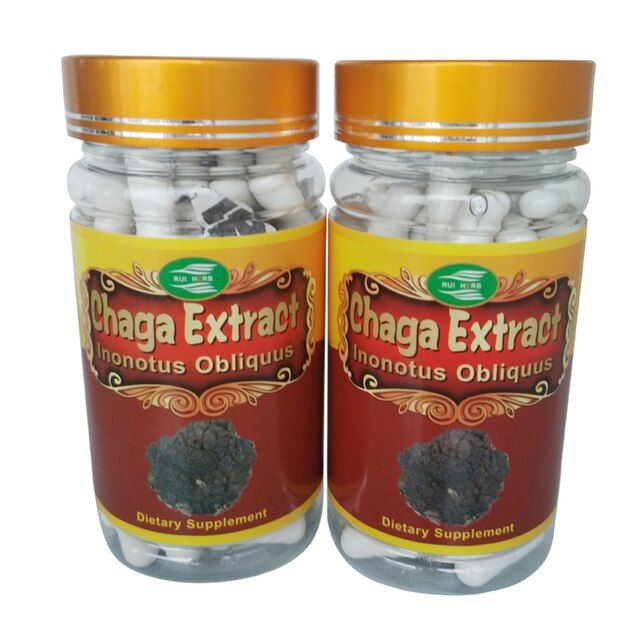 1Bottle Chaga Extract 30% Polysaccharide 500mg x 90Capsule free shipping