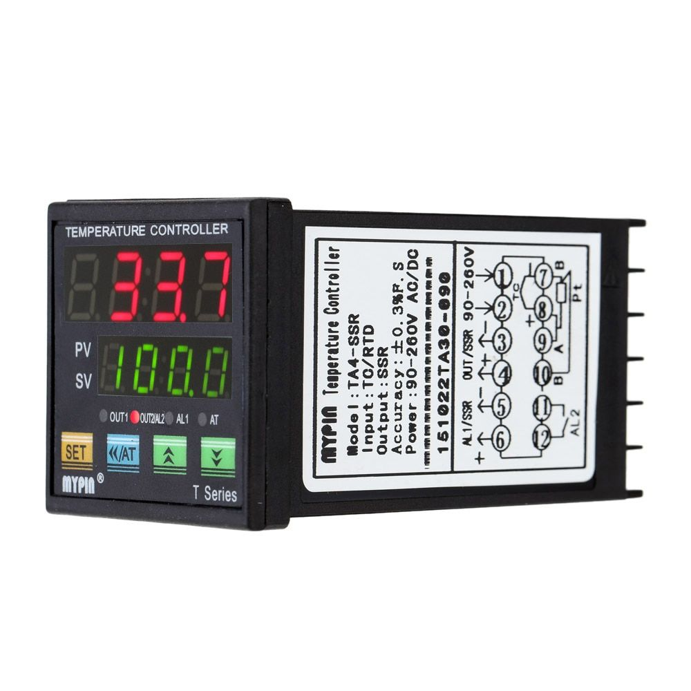 Digital LED PID  Temperature Controller Thermometer Heat Cooling Control  thermostat RNR 1 Alarm Relay Output TC/RTD thermostat