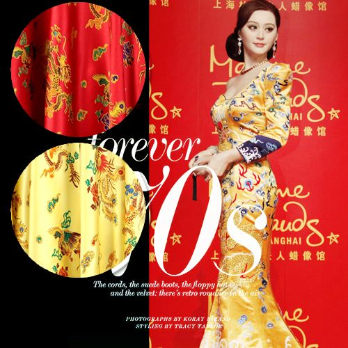 114cm wide 16.5mm traditional chinese style print mulberry silk crepe satin plain clothes one-piece dress cheongsam fabric 985