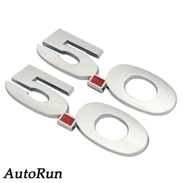2x Chrome White 3D 5.0 Fender Emblem Badge Fade-proof For Ford Mustang GT SALE