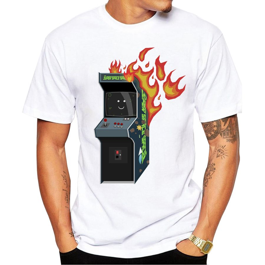 Popular fashion man's Tops 2019 summer latest printed Arcade Fire design very interesting man T-shirts Hot Tops