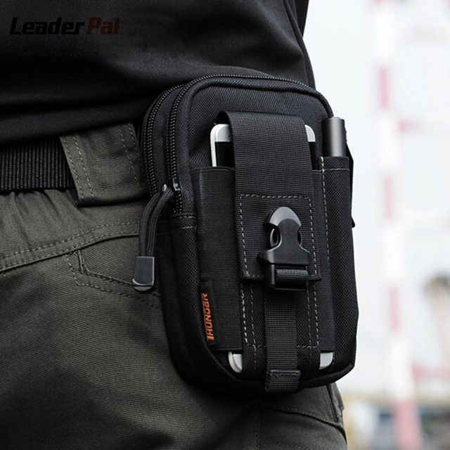 Molle Equipment Military Belt Waist Bag Pack Waterproof 1000D Nylon Mobile Phone Wallet Travel Pouch Fanny Pack for Men Women
