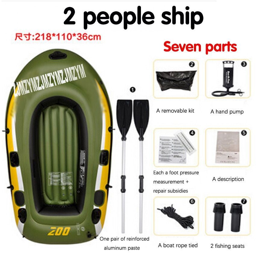1 PC 2 person kayak thick rubber boats inflatable fishing boat  kayak assault hovercraft wear-resistant boat rubber