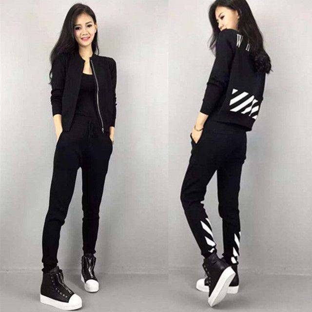 New Autumn 2016 Tracksuit For Women Ladies Casual Sweatshirt and Long Pants 2 piece Hoodies Set Plus size S-XXL TO04