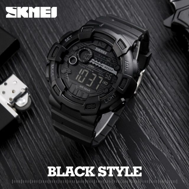 Men Silicone Sport Watch Hot SKMEI Top Brand Mens Digtial Watches Waterproof  Military Electronic Wristwatch Male Clock Reloj