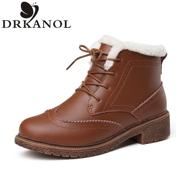 High Quality Martin Boots 2016 Fashion Winter Women Ankle Boots Breathable Oxford Shoes Platform Genuine Leather Brogue Shoes