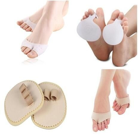 8pcs/lot Silicone Forefoot Cushion Gel Toe separator forefoot Metatarsal Pain Relief Pad Hallux Valgus Toe Straightener