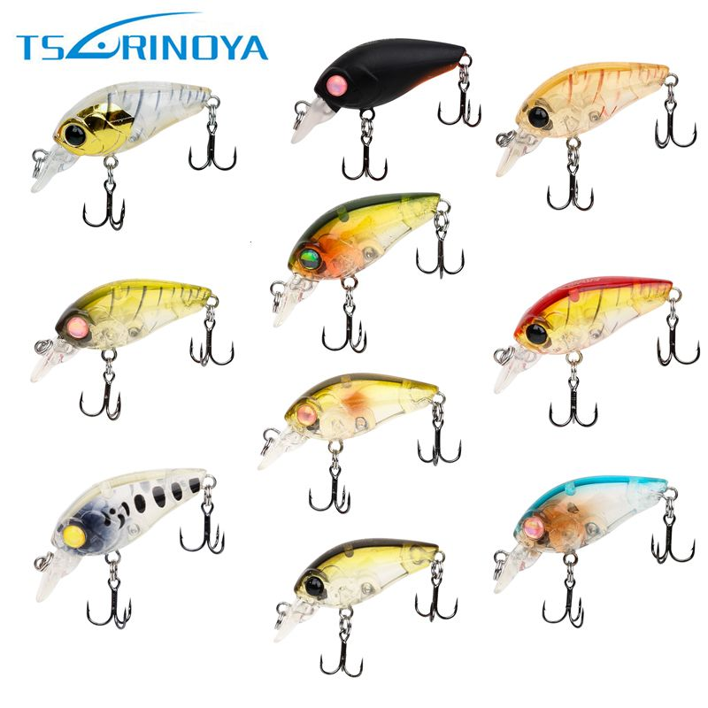 Tsurinoya 1 piece DW24 Sinking Fishing Lures Crankbaits Minnow with Treble Hook Fishing Tackle 3.5cm/3.5g