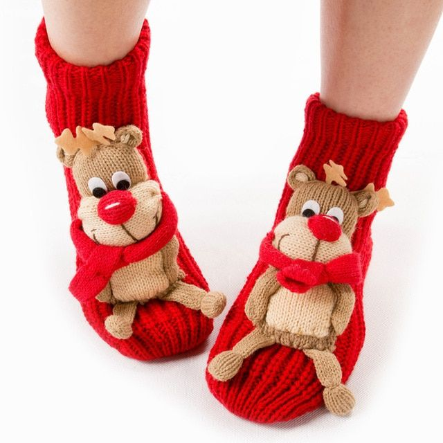 Free shpping,Christmas socks for women,floor santa socks, decorations,Christmas gifts,santa snowman and reindeer pattern