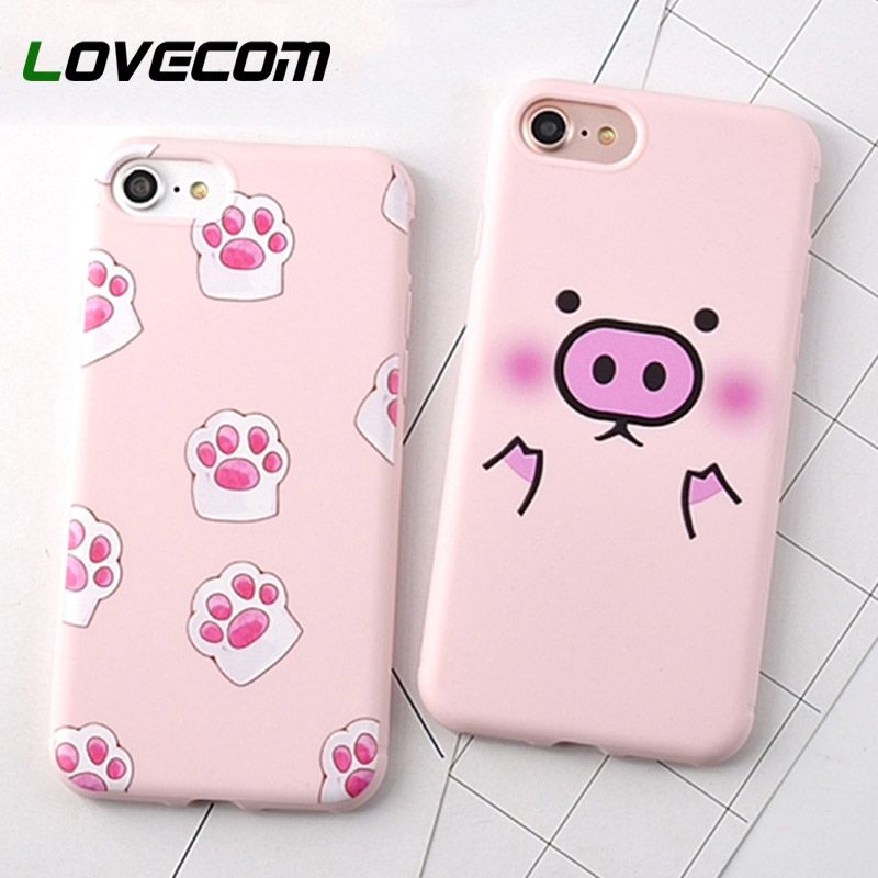 LOVECOM Cartoon Pink Cute Pigs Soft TPU Phone Back Cover Case For iPhone XS XR XS Max X 8 7 6 6S Plus Mobile Phone Bags & Cases
