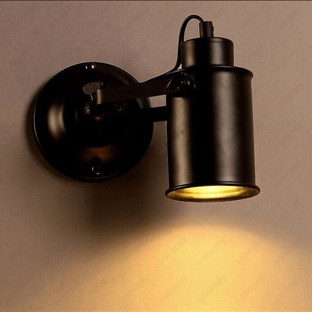 Retro 5W LED Wall Sconce Spot Light Fixture Adjustable Picture Lamp E27 Bulb Village Loft Bedroom Hotel Lobby