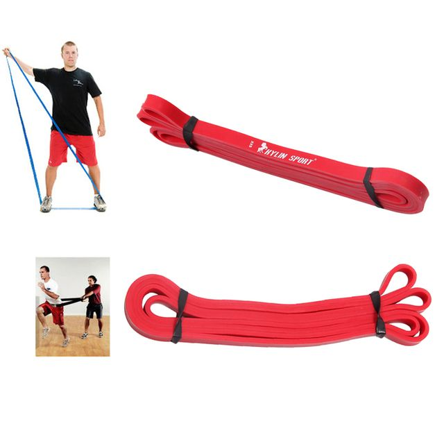 2018 New Latex Crossfit Resistance Belt Fitness Equipment Gym Power Training Equipment Weightlifting Pull Red Tension Belt