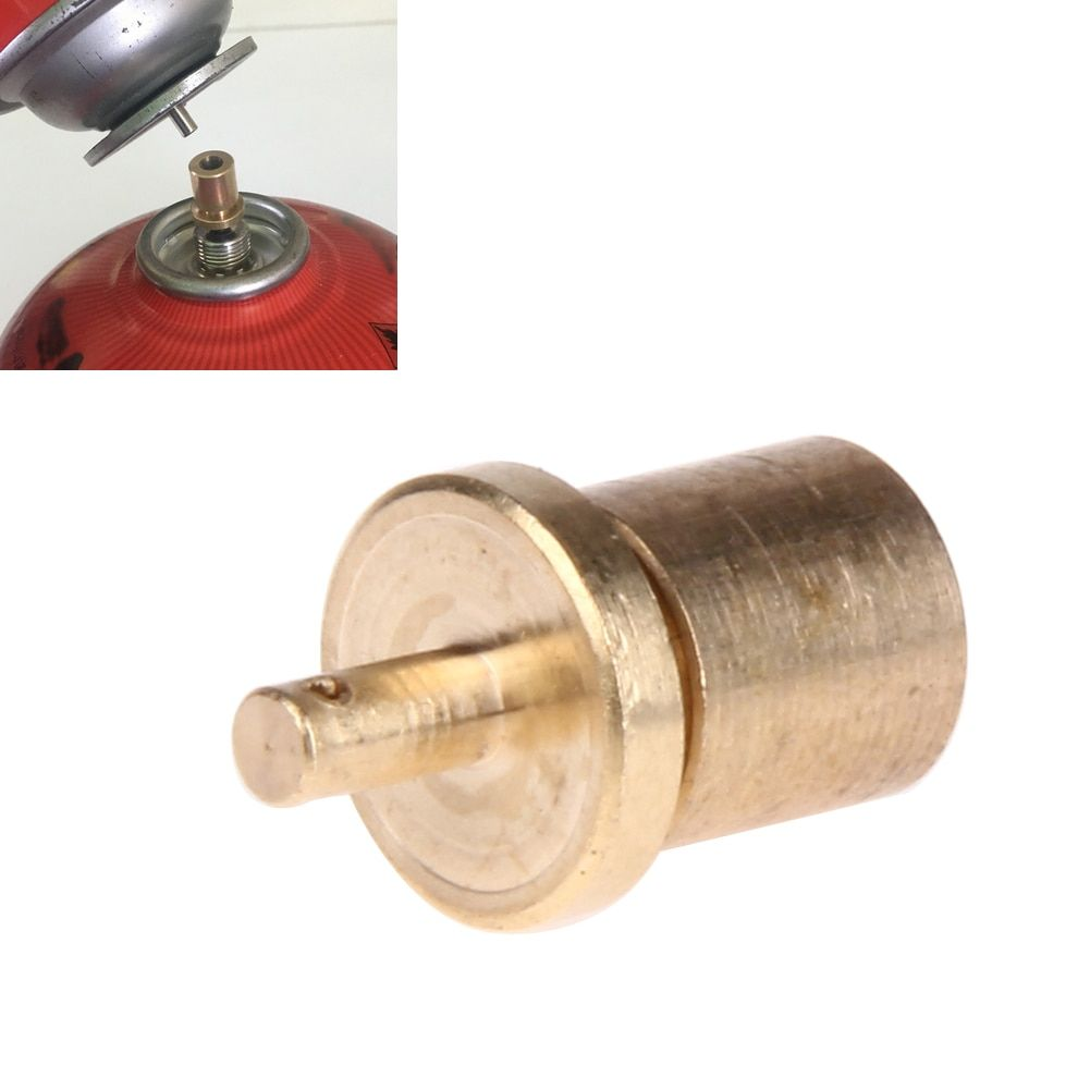 Outdoor Gas Tank Refill Adapter Camping Stove Gas Tank Cylinder Conversion Adapter Furnace Connector Cartridge Tank Adapter