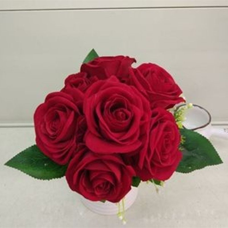 Low Price hand elegant pink artificial-flowers-cheap wedding flowers bridal bouquets wedding accessories