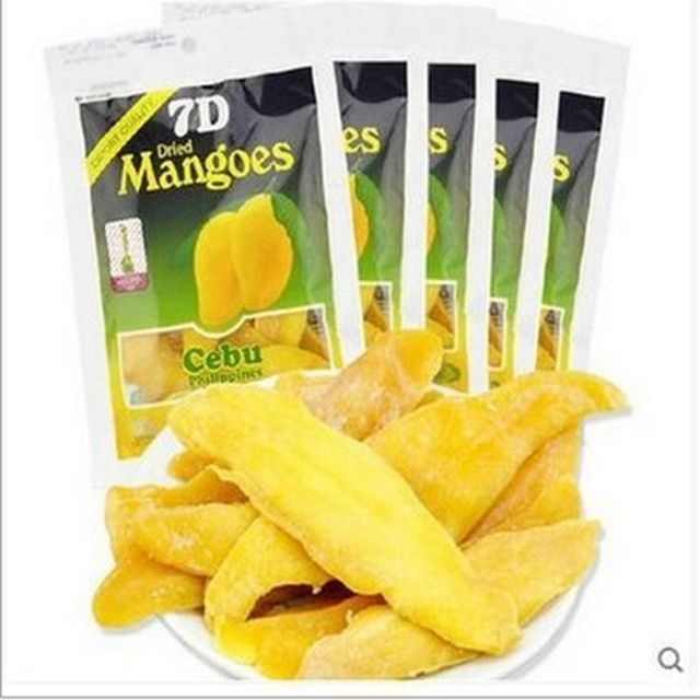 Hot Selling Dried Fruit Authentic Philippine 7D Mango Fruit Dry 100g/Pack tropical Imported Instant Snacks Free Shipping