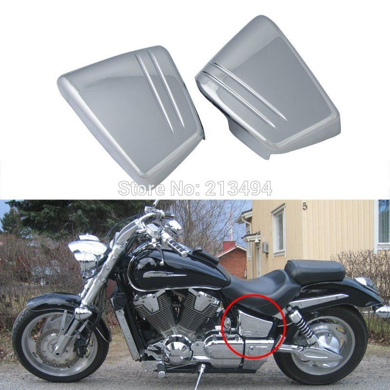 Motorcycle Chrome Battery Side Fairing Cover Metal For Honda VTX 1800 C VTX1800C Custom 2002-2008