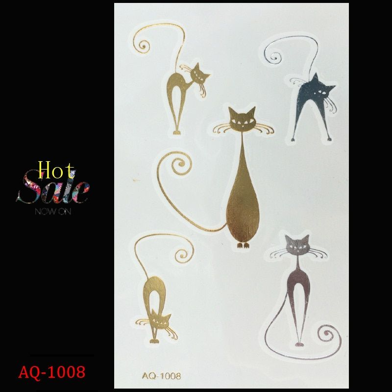 tattoo stickers Painted metal glitter temporary tattoo body art  tattoo animal tattoo disposable gold