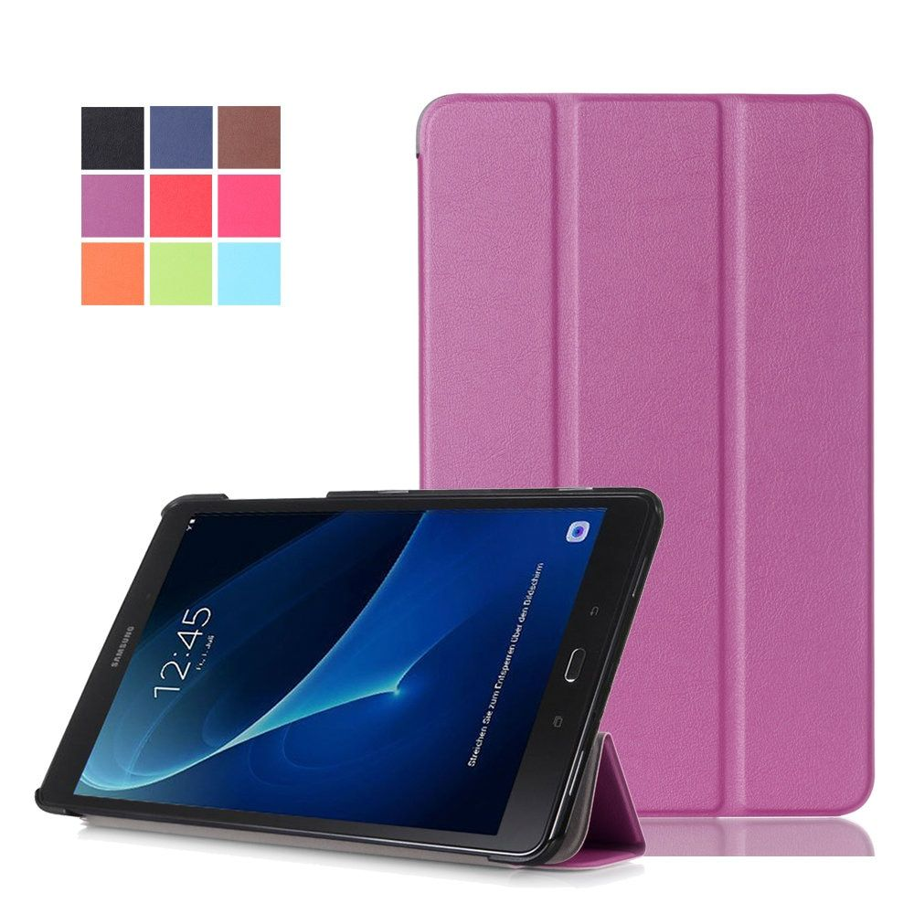For Samsung Galaxy Tab A 10.1 2016 T580 T585 Cases KST PU Leather Smart Cover Case Shell for Galaxy Tab A6 10.1 SM-T580 Fundas