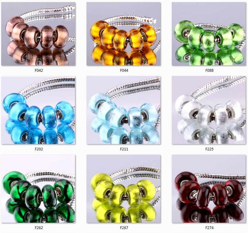 5PCS 925-sterling-silver DIY thread Murano Glass Beads Charms fit Europe pandora Bracelets necklaces  /etgankna fgsanxza