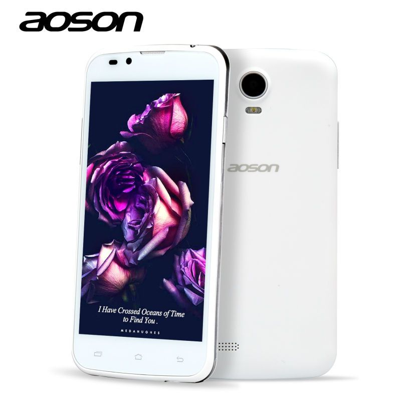Original Cheap-Sale Android 3G Unlocked Smart Phone Aoson G506 MTK6572 Dual Core Cam 5MP Dual Sim 5 Inch Mobile Phone White/Grey