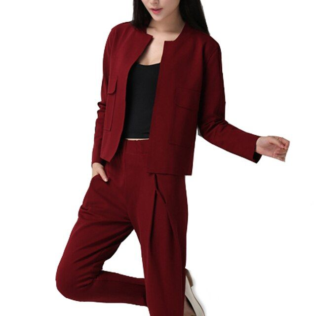 European Style 2016 New Fashion Ladies Two Piece Tops Pants Women Clothing Set Girl Women Soild Suits WY581