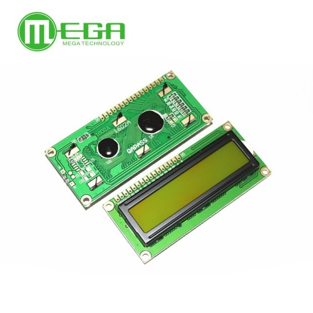 F202 1pcs, New 1602 LCD Display Module , LCD 16x2,  Yellow Green Screen Backlight ,    5V