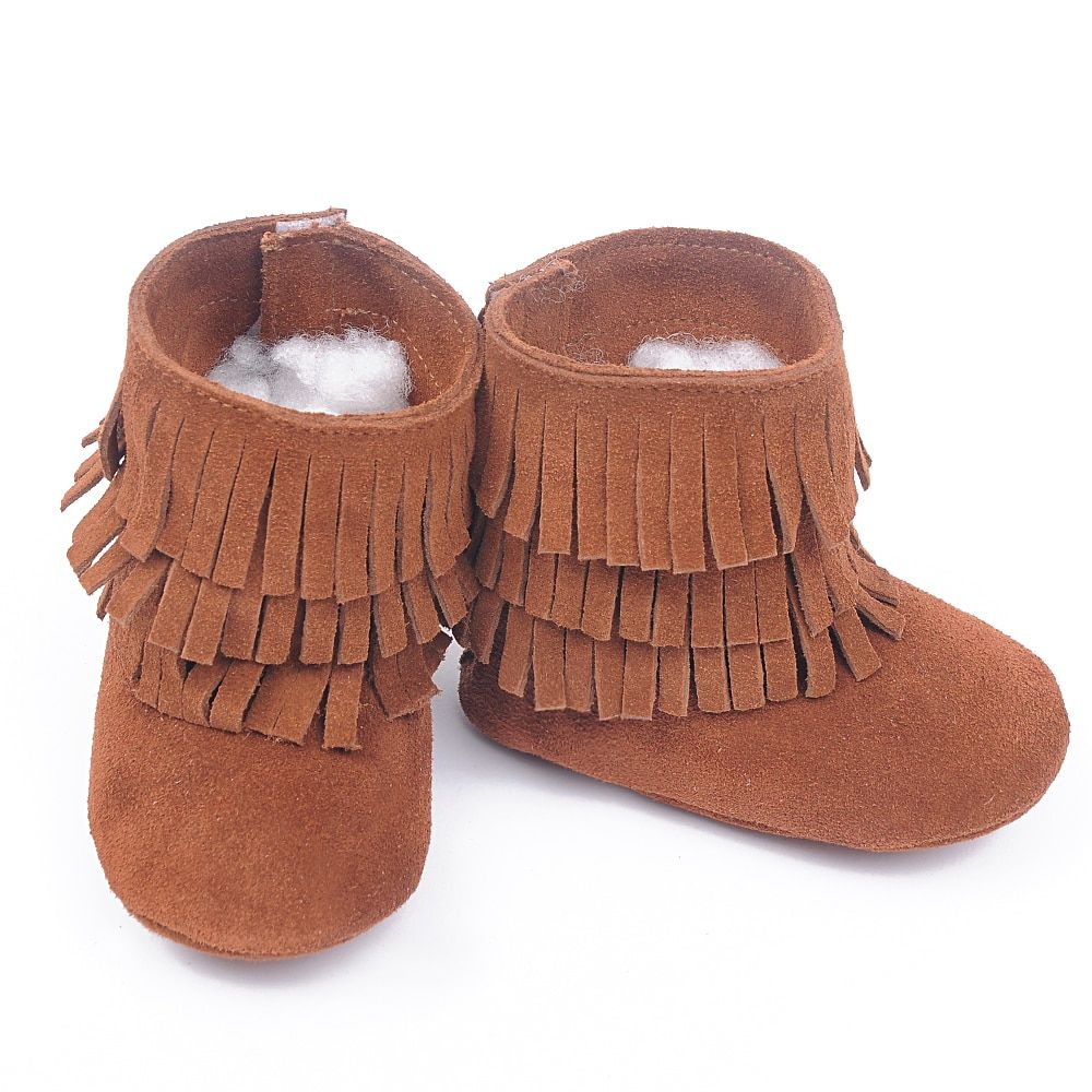 New Genuine Leather Baby Moccasins hand-made Baby suede boots tassel First Walker Chaussure Bebe newborn shoes