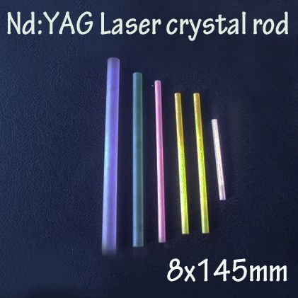 8x145mm Nd: YAG laser crystal rod for new laser marking system