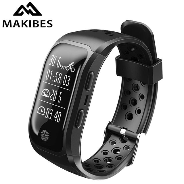 Makibes G03 GPS Smart Band IP68 Waterproof Sports Wristband Multiple sports Heart Rate Monitor Call Reminder S908 Sports band